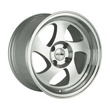15x8 Whistler KR1 4x100 +20 Silver/Machined Face Wheel (1)