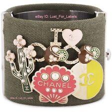 Reversible CC CHANEL Cuff 17C I Love Heart Coco Pearl Seashell Cuba Bracelet NWT