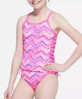NWT Justice Swimsuit Tankini Pink Girls Swim Wear Suit 2 Pc Size 16 New Swimwear