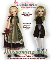 PDF Doll Clothes Pattern For Fairyland Minifee Ellowyne Slim 1/4 MSD BJD