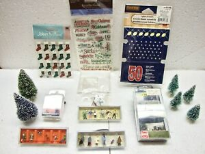 Lot of HO Scale Christmas Winter Holiday Men and Women Figures & Accessories