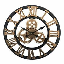40CM TRADITIONAL VINTAGE MECHANICAL STYLE WALL CLOCK ROMAN NUMERALS