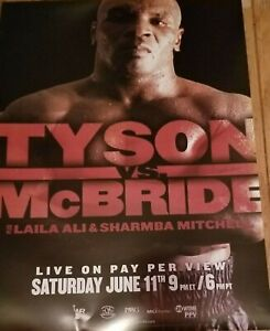 Mike Tyson vs Kevin McBride fight poster Tyson's LAST fight ? MAYBE