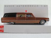 Busch 42924 Cadillac ´66 Station Wagon Bestattungswagen (1970) 1:87/H0 NEU/OVP