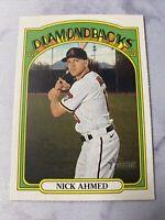 2021 Topps Heritage Baseball Nick Ahmed Arizona Diamondbacks Card #141