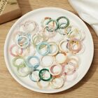 10pcs Colorful Rings Set Resin Acrylic Knuckle Ring Midi Finger Womens Jewellery