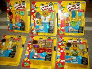 Lot of 6 Simpsons Series 10 Playmates Toys Action Figures  NIB