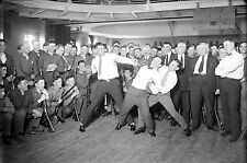 NEW Photo Jack Dempsey, Harry Houdini, and Benny Leonard  spar at a public Event