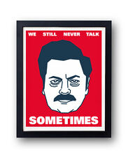 Ron Swanson quote print. Nick Offerman Parks and Recreation, Leslie Knope, Duke