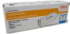 OKI GENUINE/ORIGINAL 42804543 CYAN/BLUE Printer Toner Cartridge C3200/C3200N NEW
