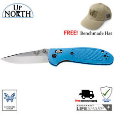 Benchmade 556-BLU Mini Griptilian Knife Blue Handle AXIS lock with FREE HAT