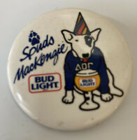Spuds McKenzie Bud Light Hang Button Pin Original Vintage Promo 1.5""