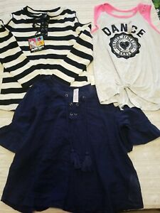 Girls  Size 8 NWT Lot of 3 Shirts Justice and Dollhouse