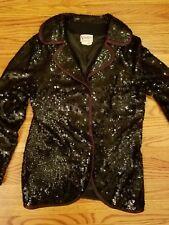 Parker Valentina Beaded Embellished  blazer Jacket Size med black