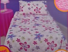 ~ Barbie - SINGLE BED COTTON GIRLS FLANNEL FLANNELETTE FITTED & FLAT SHEET SET