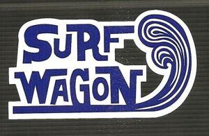 SURF WAGON Van UTE Surfboard VINYL Sticker Decal Longboard Surfing Car Ford VW