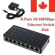 8-Port 10/100Mbps Ethernet Network Switch HUB Desktop Fast LAN Switcher Adapter