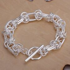 Fashion 925Sterling Solid Silver Jewelry Dragon T-O Bracelet For Women H025