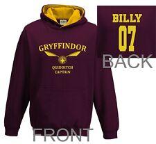 Harry Potter Hoodie Quidditch Hoodie Top Jumper Personalised Gryffindor Kids