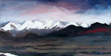 Landscape Mountains Oil Painting Home Decor 4X8 Digital Colour Artwork CA Mts.