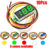 10PCS Mini DC 0-100V 0.28Inch 3-Digital Voltmeter LED Voltage Panel Meter 3 Wire