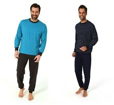 Neu Schlafanzug/PYJAMA Blau Männer 100% Baumwolle mit Bund OEKO-TEX Standard 100
