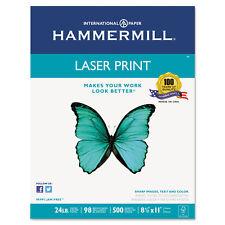 Hammermill Laser Print Office Paper 98 Brightness 24lb 8-1/2 x 11 White 500