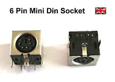 Connector 6 Pin Mini Din Socket PS/2 Female PC Mouse Keyboard PCB Solder Type