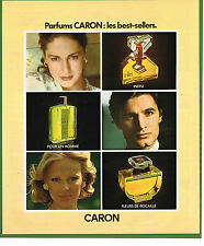 PUBLICITE ADVERTISING 035  1977  CARON  les parfums BEST-SELLERS INFINI FLEUR RO