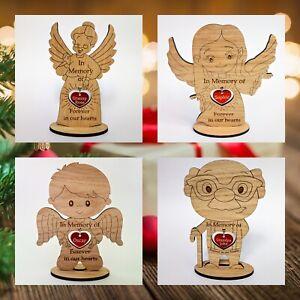 Personalised Christmas Memorial Decoration Freestanding Figures Died MemoryGift