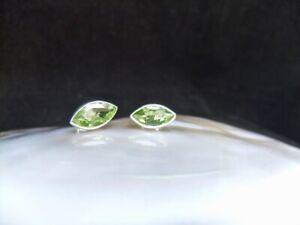 Peridot, Gemstones, Sterling Silver, Stud Earrings