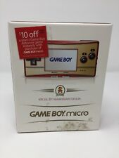 NEW! 20th Anniversary GAMEBOY Micro Famicom Edition - Nintendo GBA US Version