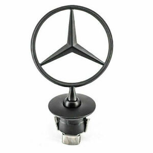 NEW Mercedes-Benz Star Hood Logo BLACK Emblem Badge 3D W210 W220 W204 C200 W221