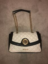 Love Moschino Cream And Black Quilted Bag