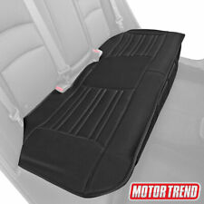 Motor Trend Universal Car Bench Seat Cushion, Black Faux Leather