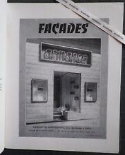 L'ART CHEZ SOI 1954 FACADES & VITRINES Jean Royère Architecture magasin boutique