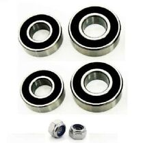 4 Trailer Wheel Bearings & 2 Nylok nuts for Erde 100,101,102,107,120,122,132 etc