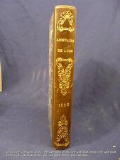 Lyon Annuaire 1855  Almanach ville de Métier organisation population histoire