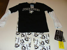 Pittsburgh Penguins Infant 2T 2Pc Layered Pjyamas NHL