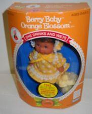 "#2218 NRFB Vintage Kenner Strawberry Shortcake 4"" Baby Berry Orange Blossom Doll"
