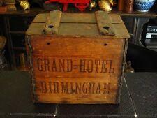 19TH CENTURY GRAND HOTEL BIRMINGHAM ENGLAND SELTZER BOTTLE WOOD CASE