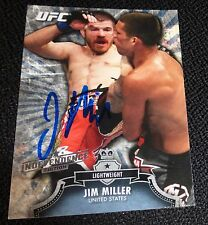 Jim Miller Signed UFC 2012 2013 Topps Bloodlines Independence Edition Card #73