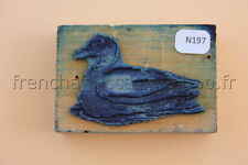 N197 French antique school rubber stamp duck farm 6*4 cm tampon scolaire cane