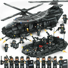 1351pcs Military SWAT Team Helicopter Tank Transport Lego Model Building Army