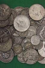 MAKE OFFER 5 TROY Pounds 90% Silver U.S. Junk Coins 60 Halves Included Bullion