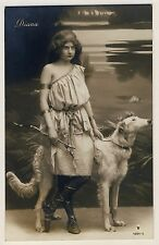 Windhund BARSOI / BORZOI Greyhound Русская псовая борзая * Vintage 1900s RPPC #5