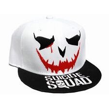 OFFICIAL DC COMICS - SUICIDE SQUAD: THE JOKER FACE  'HAHAHA' SNAPBACK CAP (NEW)
