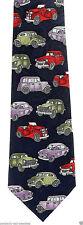 Vintage Roadsters Mens Neck Tie Car Blue Necktie Antique Cars Novelty Gift New