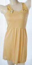 Girl full slips cotton nylon nightgown sleeveless dress no.53 butter sz 6-24
