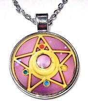 SAILOR MOON PENDANT picture of locket compact necklace silver cab anime manga W5